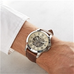 Grant Automatic Beige Skeleton Dial Men's Watch