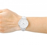 Jacqueline White Dial Ladies Casual Watch