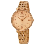 Jaqueline Rose Dial Rose Gold-plated Ladies Watch