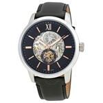 Townsman Skeleton Dial Automatic Men's Leather Watch