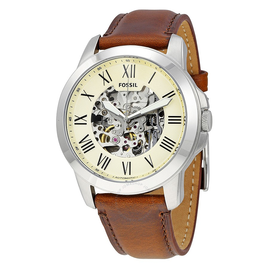 Grant Automatic Beige Skeleton Dial Men