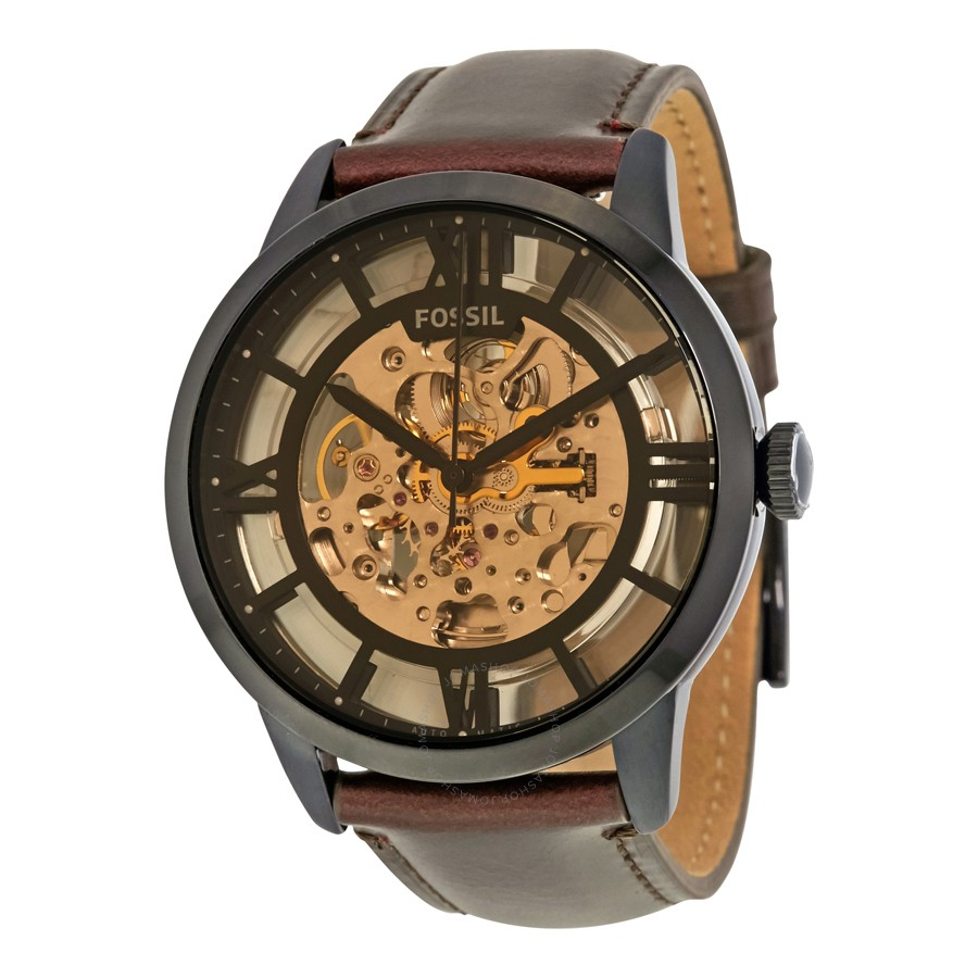 Townsman Automatic Brown Skeleton Dial Men