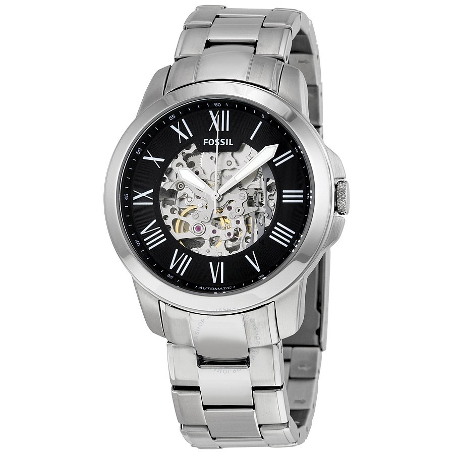 Grant Black Skeleton Dial Automatic Men's Watch